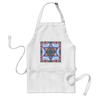 Jewish Star on moire. Adult Apron
