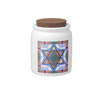 Jewish Star on moire. Candy Jar