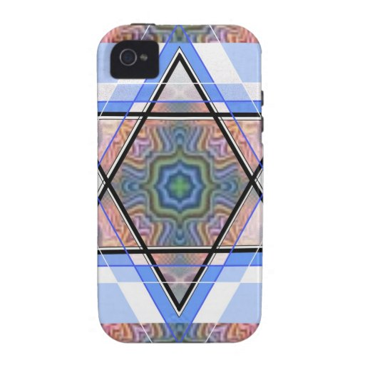 Jewish Star on moire. Vibe iPhone 4 Cover