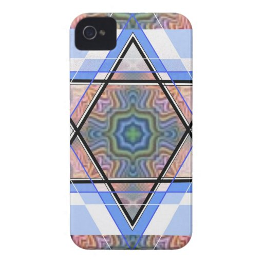 Jewish Star on moire. iPhone 4 Cover
