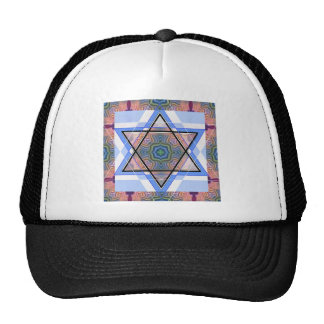 Jewish Star on moire. Mesh Hat