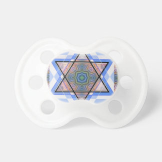 Jewish Star on moire Pacifiers