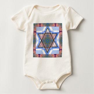 Jewish Star on moire. Romper