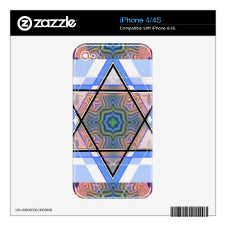 Jewish Star on moire. Decals For The iPhone 4