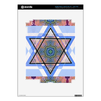 Jewish Star on moire Decal For iPad 3
