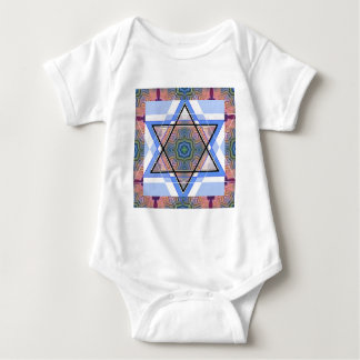 Jewish Star on moire. Tee Shirt