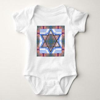 Jewish Star on moire. Tee Shirt