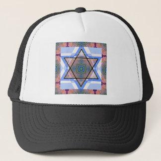 Jewish Star on moire. Trucker Hat
