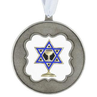 Jewish Star Pewter Ornament