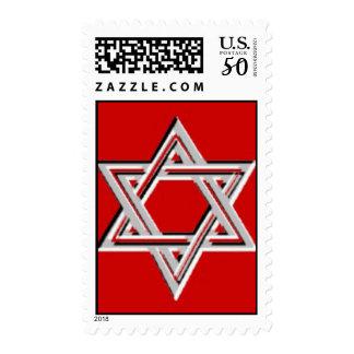 jewish star postage stamp