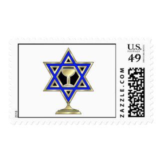 Jewish Star Postage Stamps