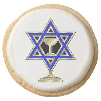 Jewish Star Round Premium Shortbread Cookie