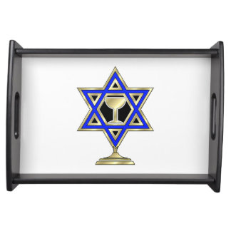Jewish Star Service Tray
