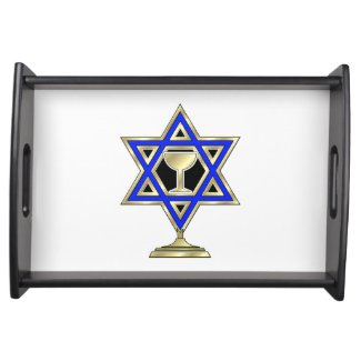 Jewish Hanukkah Serving Tray