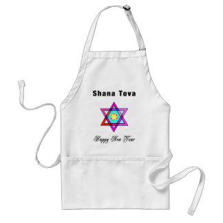 Jewish Star Shana Tova Adult Apron