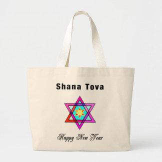 Jewish Star Shana Tova Tote Bags