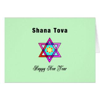 Jewish Star Shana Tova Card