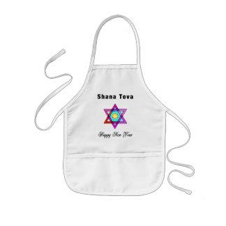 Jewish Star Shana Tova Kids' Apron