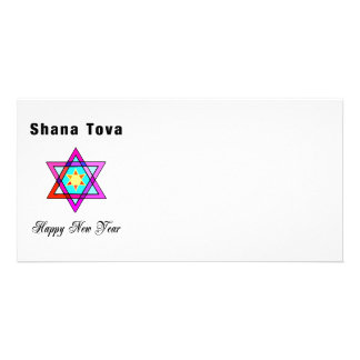 Jewish Star Shana Tova Picture Card