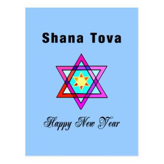 Jewish Star Shana Tova Postcard