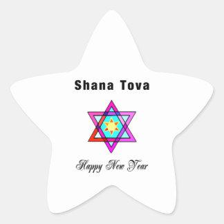 Jewish Star Shana Tova Star Stickers