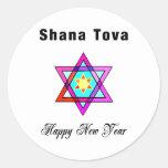 Jewish Star Shana Tova Sticker