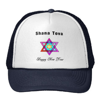 Jewish Star Shana Tova Trucker Hat