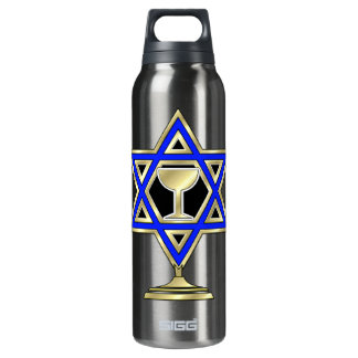 Jewish Star 16 Oz Insulated SIGG Thermos Water Bottle