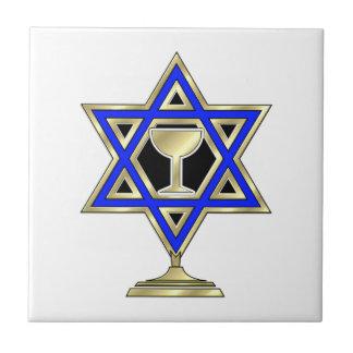 Jewish Star Small Square Tile