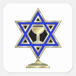 Jewish Star Square Sticker