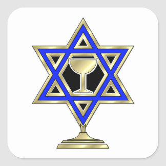 Jewish Star Square Sticker