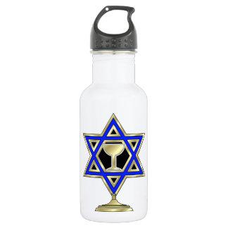Jewish Star Stainless Steel Water Bottle