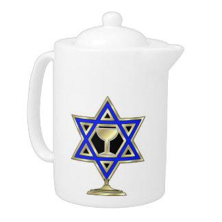 Jewish Star Teapot