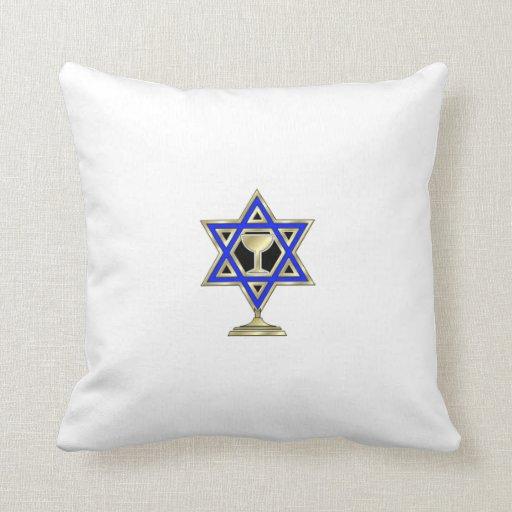 Jewish Star Throw Pillow