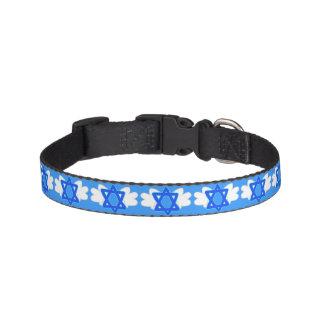 Jewish Star w/ Mitzvah wings, dog collar