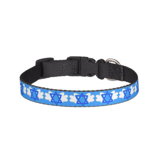Jewish Star w/ Mitzvah wings, dog collar
