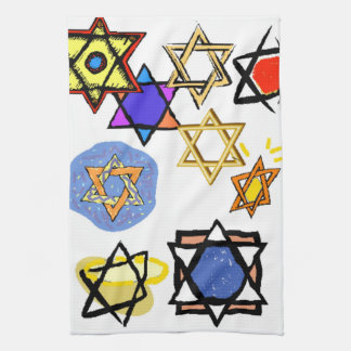 JEWISH STARS KITCHEN TOWELS - MOGEN DAVID GIFTS