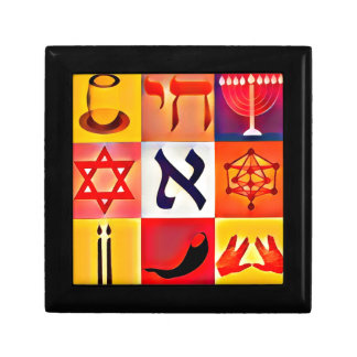 Jewish Symbols Jewelry Box