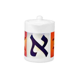 Jewish Symbols Teapot