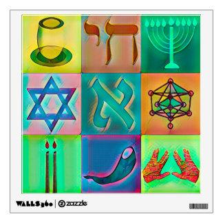 Jewish symbols wall decal