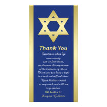 Jewish Sympathy Thank You Photo Card Star of David