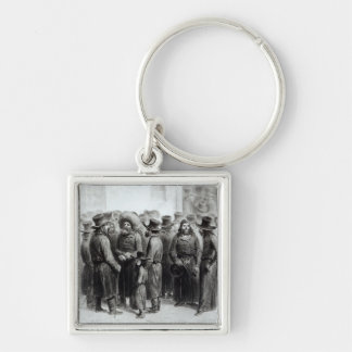 Jewish Traders and Merchants Silver-Colored Square Keychain