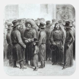 Jewish Traders and Merchants Square Sticker