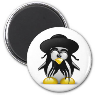 Jewish Tux (Linux Tux) 2 Inch Round Magnet