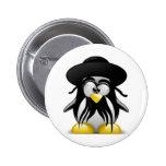 Jewish Tux (Linux Tux) Button