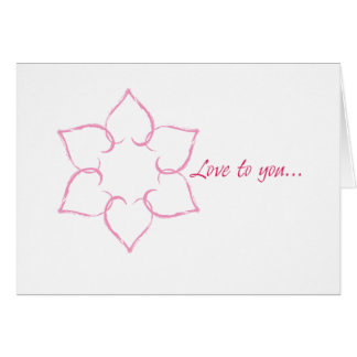 Jewish Valentine: Hearts in Star of David Card