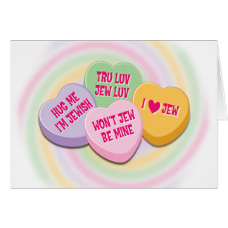 Jewish Valentine's Card: Candy Hearts Card