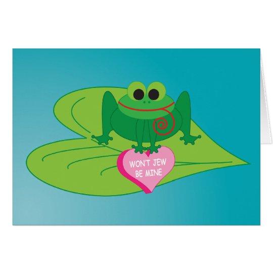 Jewish Valentine's Card: Won't Jew Be Mine? Card