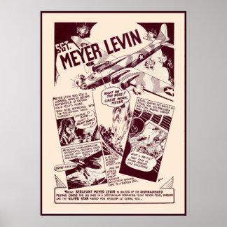 Jewish War Heroes Levin Poster