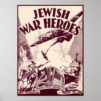 Jewish War Heroes Poster